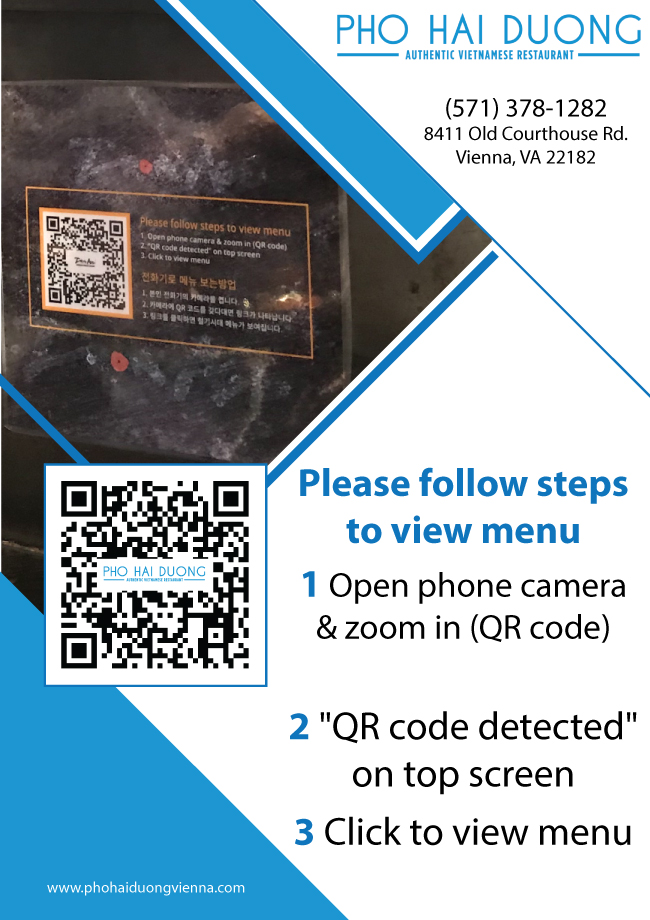 Pho Hai Duong Of Vienna Tysons Va 22182 Beef Noodle Soup Vermicelli Rices Dishes Egg Rice Noodle